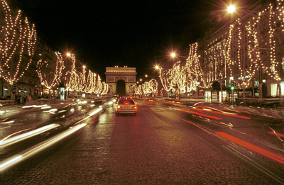 champselysees Christmas Time in Paris