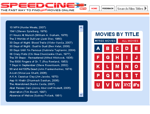 speedline1 Speedcine   The Movie Streaming and Downloading Database