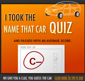 name that car My Scores from The Oatmeal Quizzes!