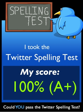 spelling test My Scores from The Oatmeal Quizzes!