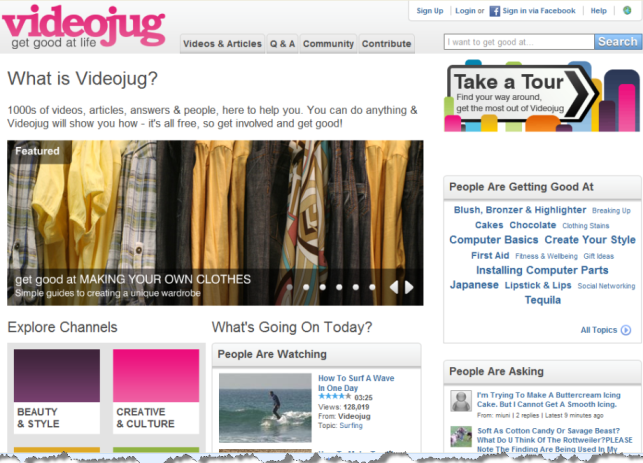 video jug cut 5 Useful How To Videos Sites