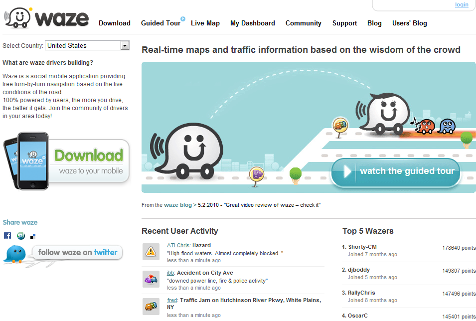 waze USA Waze: A Social Mobile App with Real Time Traffic Updates