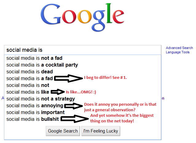 social media is Google Search Says Facebook IS...