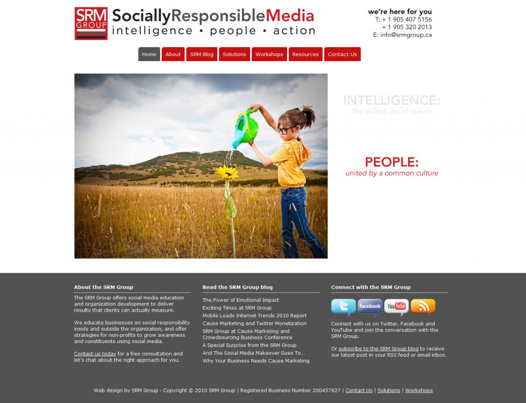 SRM Group Social Media Education Socially Responsible Business Organization Development Non Profit Consulting 1288459718937 1024x785 13 Sweet Looking Sites Powered by Headway (but Mainly Me Rambling About Headway)
