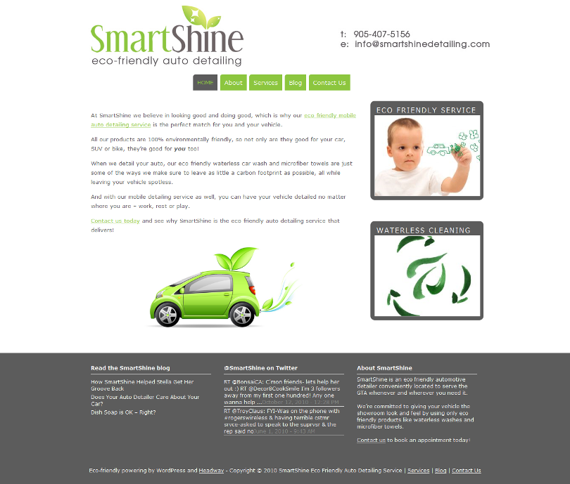 SmartShine site 13 Sweet Looking Sites Powered by Headway (but Mainly Me Rambling About Headway)