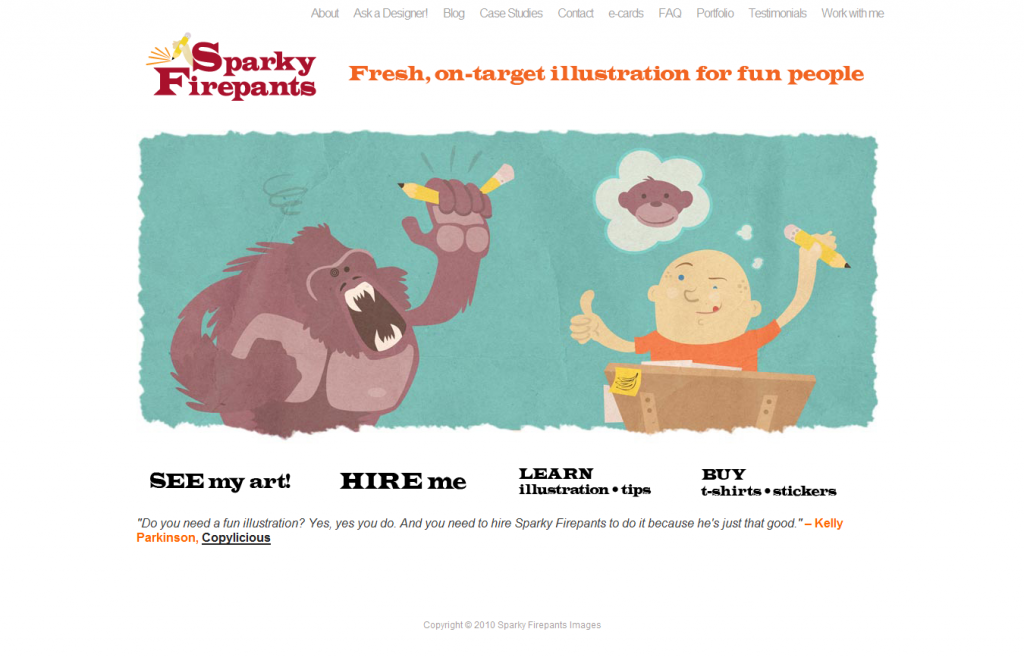 Sparky Firepants site 1024x657 13 Sweet Looking Sites Powered by Headway (but Mainly Me Rambling About Headway)