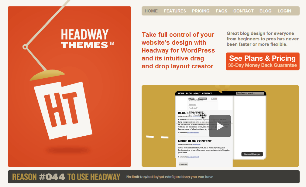 headway home page1 13 Sweet Looking Sites Powered by Headway (but Mainly Me Rambling About Headway)