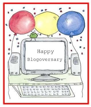 happy blogoversary nittyGriddy is 1 Year New! Happy Blogoversary!