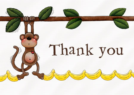 monkey thank you nittyGriddy is 1 Year New! Happy Blogoversary!