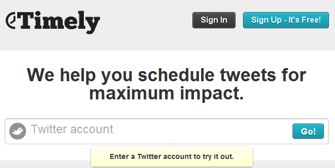 Timely.is  Are Your Tweets Timely?