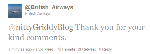 British Airways Reply on Twitter British Airways Gets Social Media!