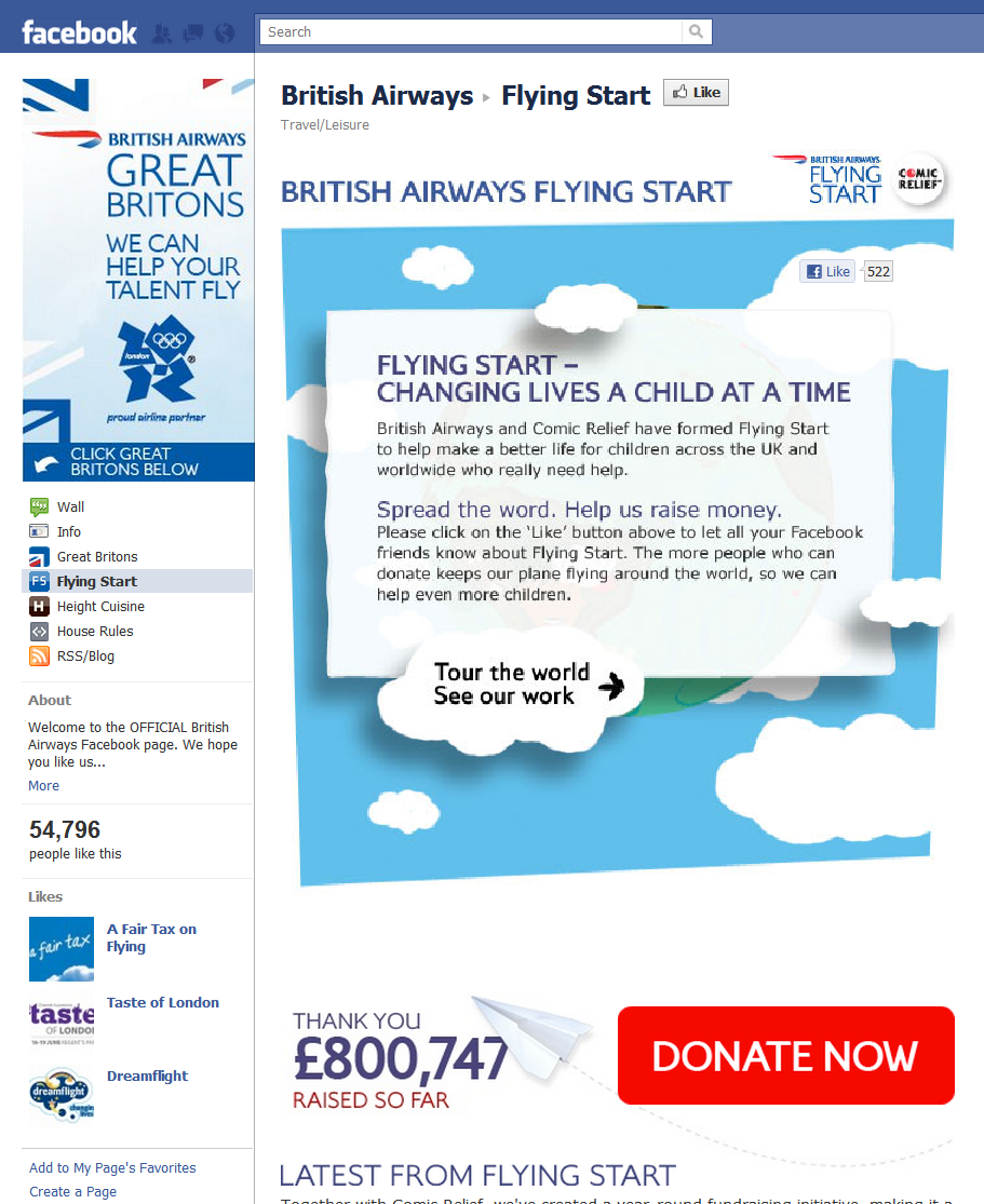 British Airways flying start British Airways Gets Social Media!