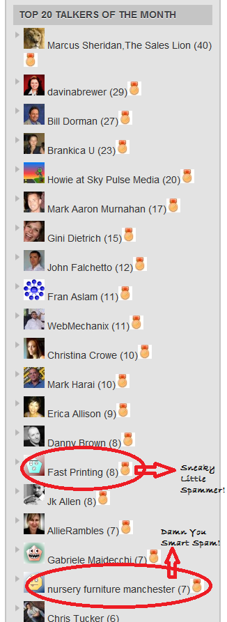 Top Commenters on nittyGriddy for April1 On Commenting and My Top 2 April (S)Talkers